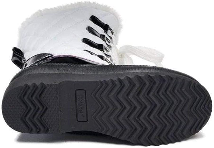Totes Kids Kayla White /& Black Winter Snow Boots Girl/'s Youth Size 12 New