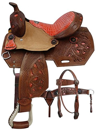 Western Roping Saddle Set - 3