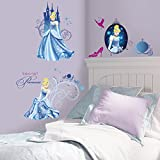 Roommates Rmk1956Scs Disney Princess Cinderella Glamour Peel And Stick Wall Decals, 31 Count