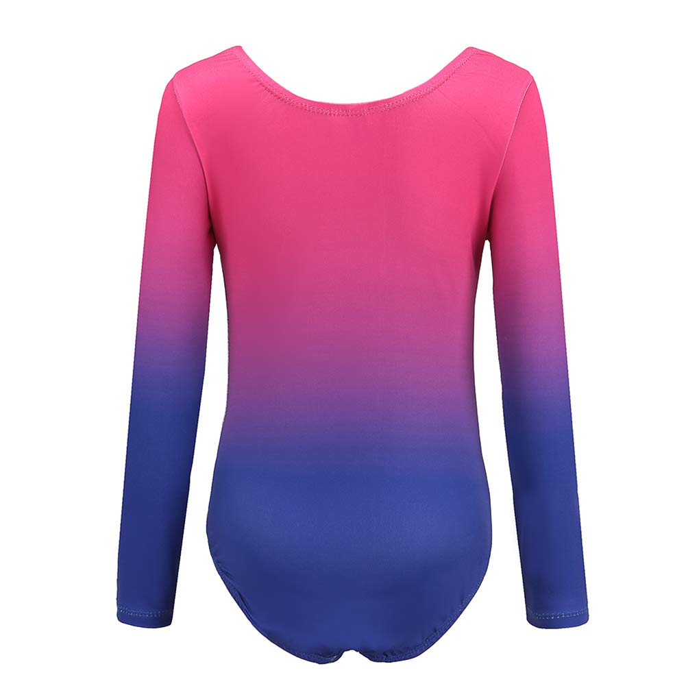 Ukyzddio Christmas Gymnastic Leotards for Girl Long Sleeve Athletic Dance Bodysuit Outfit
