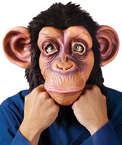 (Fun World Unisex-Adult's Deluxe Chimp Mask, Multi Color, Standard)