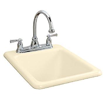 American Standard 7085.803.345 Island Cast Iron Kitchen Sink, Bisque