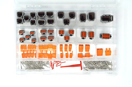 DEUTSCH DTM 191 PCS CONNECTOR KIT 20AWG SOLID CONTACTS & -