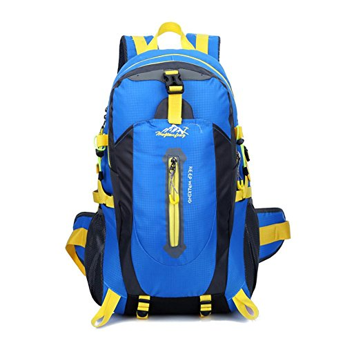 Highplus 40L Waterproof Women&Men Travel Backpack Camping Climbing Hiking Sport Bag Blue