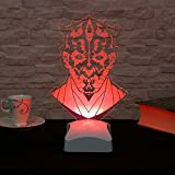 Table Lamp, Horror Star Wars 3D White Red Night Decorative Minimalist Solid Metal Table Lamp Bedside Desk Lamp for Bedroom, Dresser, Living Room, Kids Room, College Dorm