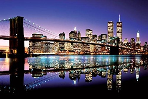 Color Brooklyn Bridge Poster Art Print