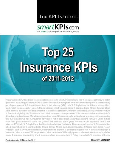 Download Top 25 Insurance KPIs of 2011-2012 Pdf