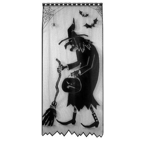 Heritage Lace Witch 38-Inch Wide by 84-Inch Drop Scenic Panel, Black