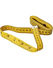 Sided Body Measuring Tape, Double Scale Measuring Ruler for Sewing Tailor Fabrics, 3M 120Inch, Yellow