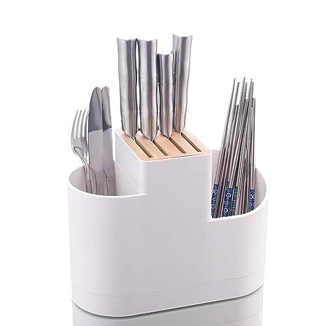 Compra DSDNN Porta Cuchillos Cocina Almacenamiento De Madera ...