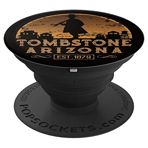 Tombstone Arizona AZ Est. 1879 Wild West Gift PopSockets Grip and Stand for Phones and Tablets