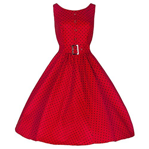 Pretty Kitty Fashion - Robe - À Pois - Femme Rouge Rouge à pois L