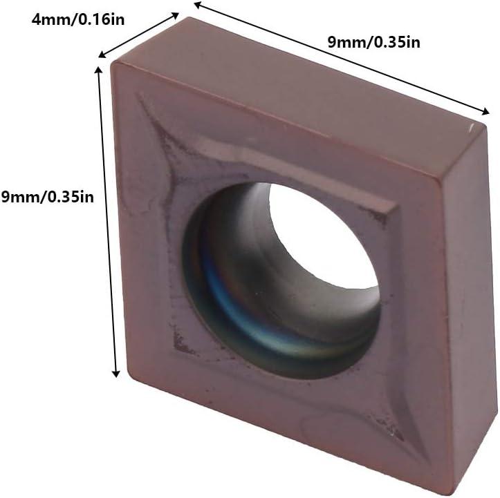 Insertos de Carburo Delaman Cuchillas Herramienta de Torneado de Torno CNC CCMT09T308 VP3308 10 Piezas Inserto de Torno CNC