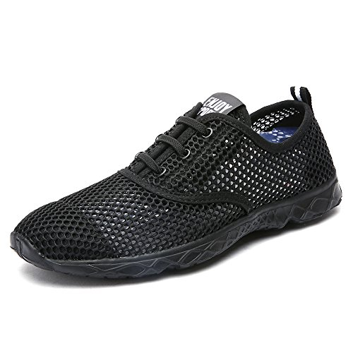 Aleader Women's Quick Drying Aqua Water Shoes CarbonBlack 6 D(M) US