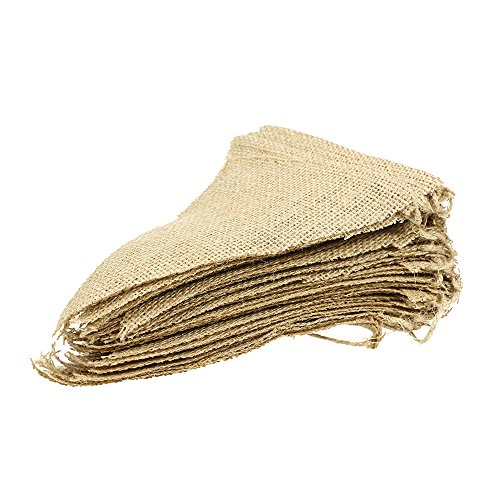 GooGou 48 Pcs Burlap Banner DIY Decoration Triangle Flag for Wedding Decoration,Baby Shower and Party 32feet