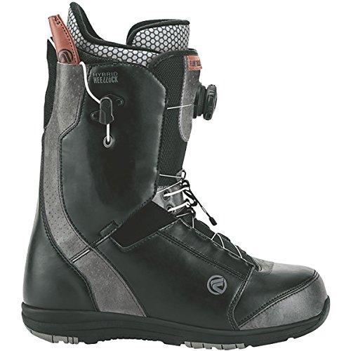 Lock Boa Snowboard Boots (Flow Tracer Heel-Lock Coiler Boa Snowboard Boot - Men's Black, 10.5)