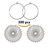 300Pcs Wine Charm Rings, Open Jump Ring, ABUFF Beading Hoop. for DIY Wine Charms, Earrings 30x25mm