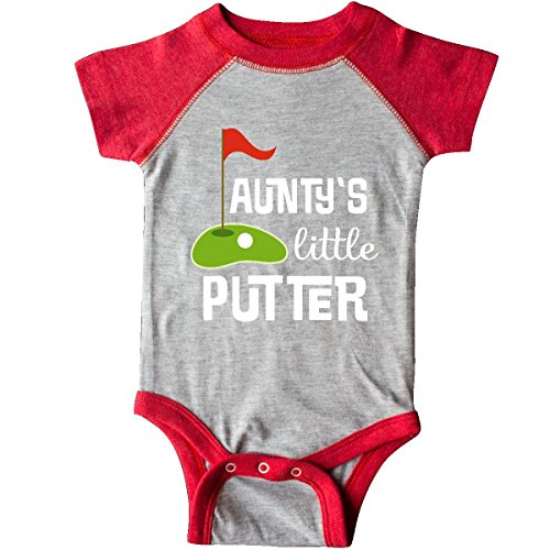 - inktastic - Golfing Aunty's Little Infant Creeper Newborn Heather and Red 2f80c