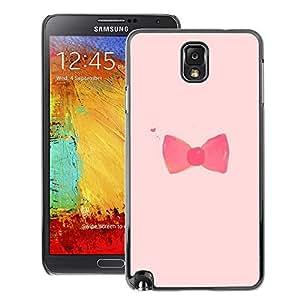 Supergiant (Bow Bowtie Pink Red Fashion Design) Impreso colorido protector duro espalda Funda piel de Shell para Samsung Note 3 N9000