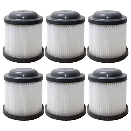 Felji 6 Replacement Filters for Black & Decker Pivot Vac PVF110 PHV1810 PHV1210 905524-33