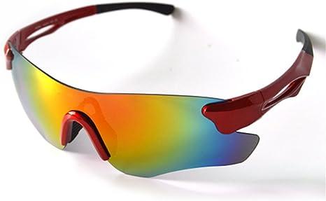 Playbook profesional polarizadas ciclismo gafas bicicleta gafas bicicleta gafas UV 400 deportes al aire libre gafas de sol, Rojo: Amazon.es: Deportes y aire libre