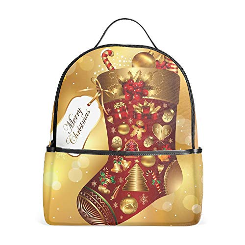 Unisex Boys Girls Christmas Ornaments Merry Print Travel Leisure Daypack Bag