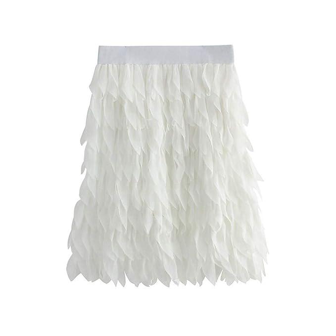 Sylar Faldas Mujer Cortas Verano Faldas Plisadas Mujer con Borla ...