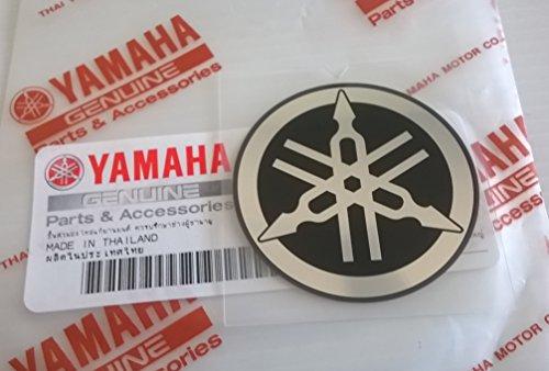 (Yamaha 1WC-F175C-00 - Genuine 45mm Diameter Yamaha Tuning Fork Flat Decal Sticker Black / Silver Self Adhesive Motorcycle / Jet Ski / ATV / Snowmobile)