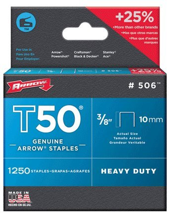 Arrow Fastener Company Inc 506 2 Pack 3/8 in. T50 Genuine Arrow 2, 500pc Staple
