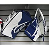 New Reebok Revoke Pro int. goalie glove blocker reg hand LH glove catcher blue