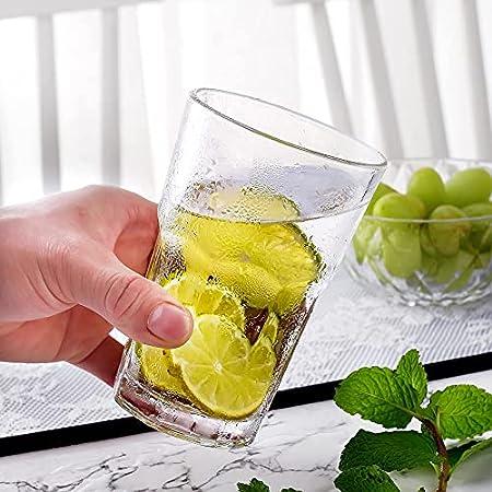 Amisglass 6 Piezas Copas de Espumoso Highball Glass, Copa de Champán sin Tallo, Vasos Cristal para Bebidas Largas, Mixtas, Agua, Zumo, Vino, Cóctel, Vaso Vidrio Claridad con Forma Clásica - 300 ml