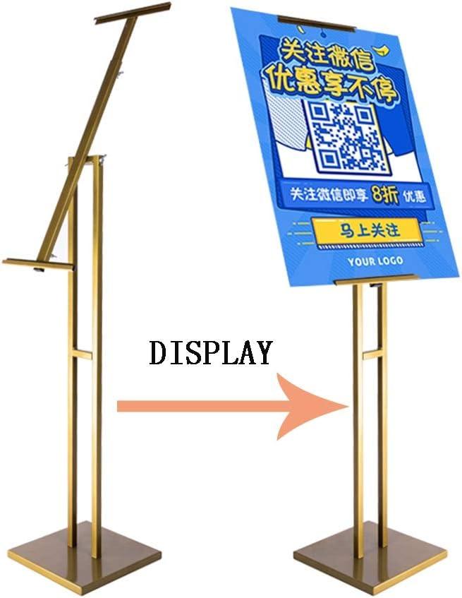 GZ Support for Affiche sur Pied avec Support for Affiche Argent - Acier Convient /à lint/érieur Couleur Noir//Blanc//Or // Hauteur r/églable for Panneau et Mousse Support for Signe au Sol avec Base