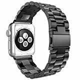 Apple Watch Band 42mm, Biaoge Stainless Steel Classic Metal Watch Band Replacement for Apple Watch iWatch Series 2/Series 1 (42mm Space Gray)