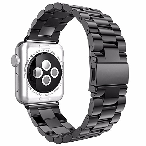 Apple Watch Band, NO1seller Top Premium Solid Stainless Steel Replacement Watch Band Strap Bracelet with Classic Clasp for Apple Watch Series 2, Series 1 (Sport Watch Cowboys Mens)