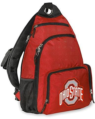 Ohio State University Backpack COMFORTABLE OSU Buckeyes Single Strap Backpacks - State Sling Backpack