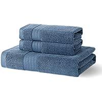 Xinrjojo Ultra Soft Combed Cotton 3-Piece Towel Set