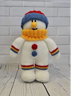 Knitting by Post Softie Snowman Toy Knitting Pattern