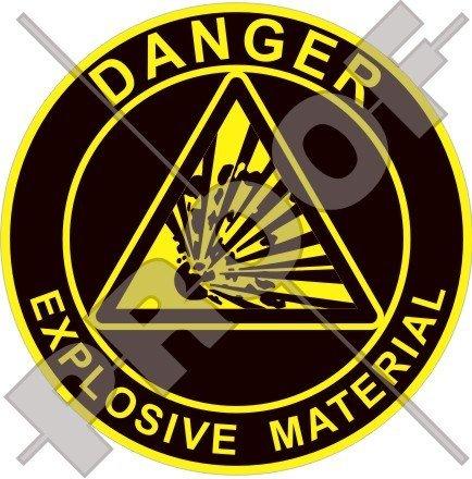EXPLOSIVE MATERIAL Explosion Danger Warning, Safety Sign 3