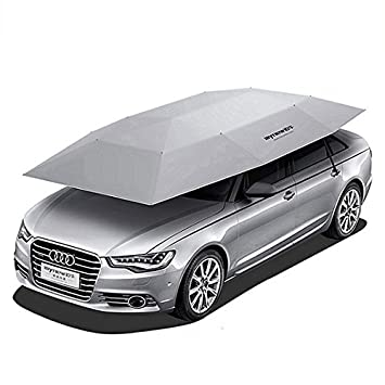 FirnFose Semi - Automatic car carpa semi - Automatic coche paraguas coche sol refugio (gray