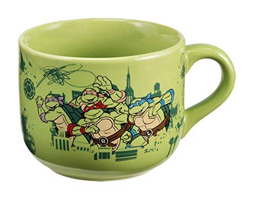 Vandor 38053 Teenage Mutant Ninja Turtles 20 Ounce Ceramic Soup Mug, Green