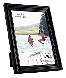 MCS Industries Solid Wood Frame Set, Set of 10, Black (65508)