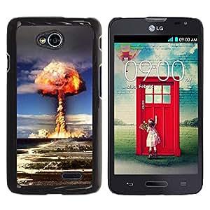 Be Good Phone Accessory // Dura Cáscara cubierta Protectora Caso Carcasa Funda de Protección para LG Optimus L70 / LS620 / D325 / MS323 // Explosion Powerful Atomic Bomb