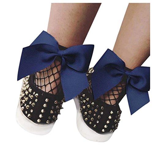 Chaussettes En Résille Femme, Inkach Filles Élégantes Été Dentelle Douce Résille Mesh Cheville Courte Chaussettes Net Marine Bleu
