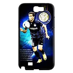 Soccer Internazionale Milano Football Club Classic Design Print Black Case With Hard Shell Cover for Samsung Galaxy Note 2 N7100