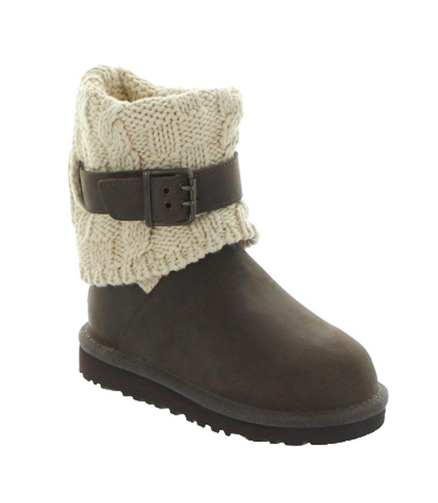 UGG Australia Girl's Cambridge Leather Chocolate Leather Boot 13 M US