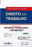 capa de Direito do Trabalho. De Acordo com a Reforma Trabalhista e a MP 808/2017