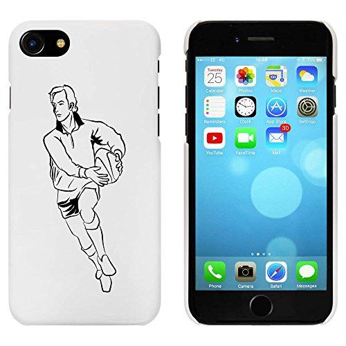 Blanc 'Joueur de Rugby' étui / housse pour iPhone 7 (MC00057552)