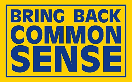 bring back common sense bumper, I Make Decals®, lunch box, tool box, phone, Hard Hat, vinyl, decal car sticker