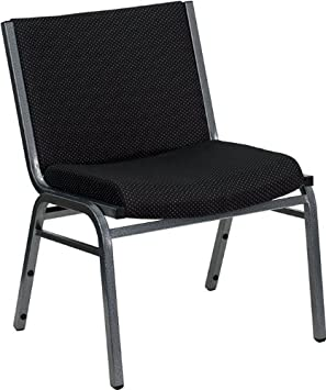Flash Furniture HERCULES Series Big Tall 1000 lb. Rated Black Fabric Stack Chair