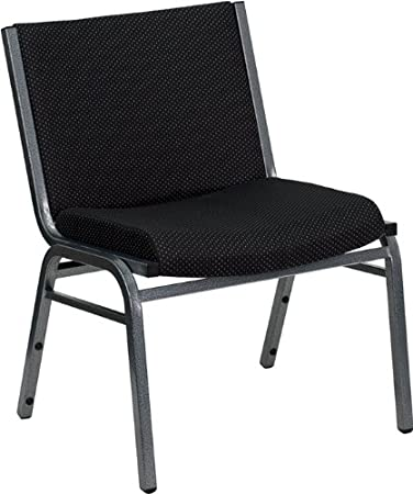 Attractive Flash Furniture HERCULES Series Big U0026 Tall 1000 Lb. Rated Black Fabric  Stack Chair